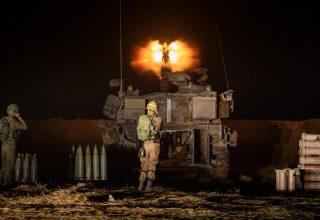 Israeli artillery firing toward Gaza